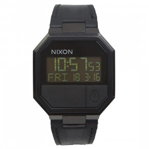 Nixon Re-Run Leather Watch (black / all black)