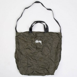 Stussy Stock Nylon Ripstop Tote Bag (olive / green)
