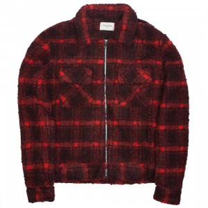 Lifted Anchors Men Prince Flannel Jacket (red / black)