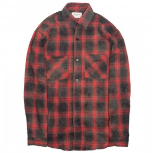 Lifted Anchors Men Bennett Long Sleeve Shirt (red)