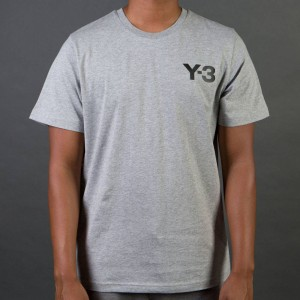 Adidas Y-3 Men Classic Short Sleeve Tee (gray / medium grey heather)