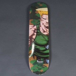 NSURGO x Street Fighter Guile Skateboard Deck Limited Edition (green)