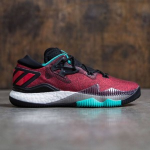 Adidas Men Crazylight Boost Low 2016 (red / black / footwear white / shock mint)