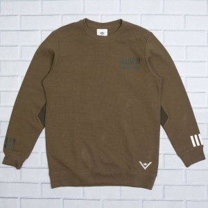 Adidas Men White Mountaineering Crew Sweatshirt (olive / trace olive)