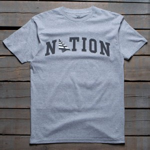 Paper Planes Men Nation Tee (gray / heather)