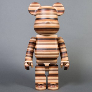 Medicom x Karimoku Horizon 1000% Wooden Bearbrick Figure (brown)