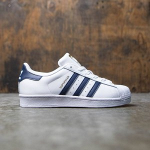 Adidas Big Kids Superstar Foundation (white / collegiate navy / gold metallic)