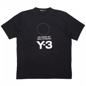 Adidas Y-3 Men Stacked Logo Short Sleeve Tee (black / core white)