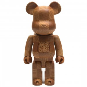 Medicom x SYNC x House Industries Karimoku Chess 400% Bearbrick Figure (brown)