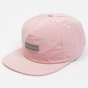 Stussy Reflective Tape Cap (pink)