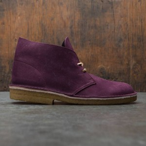 Clarks Men Desert Boot Premium (purple / grape nubuck)