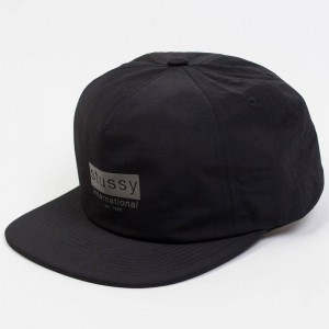 Stussy Reflective Tape Cap (black)