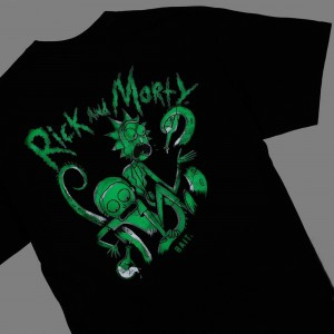 BAIT x Rick and Morty Men Tentacles Glow In The Dark Tee (black)