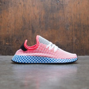 Adidas Big Kids Deerupt Runner J (orange / solar red / bluebird)