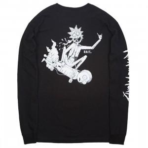 BAIT x Rick and Morty Men Skateboard Long Sleeve Tee (black)