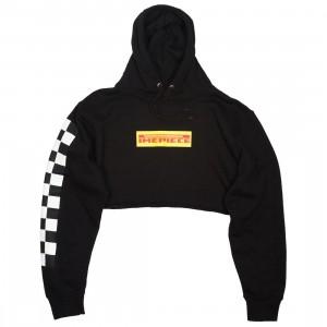 Dimepiece Women Checkers Cropped Hoody (black)
