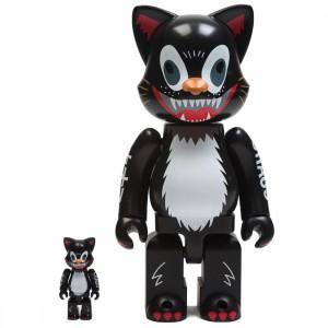 Medicom Kidill Cat 100% 400% Nyabrick Figure Set (black)