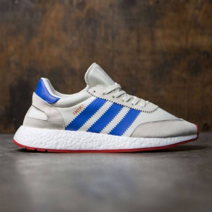 Adidas Men Iniki Runner (white / off white / blue / core red)