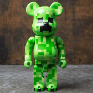 Medicom Minecraft Creeper 400% Bearbrick Figure (green)