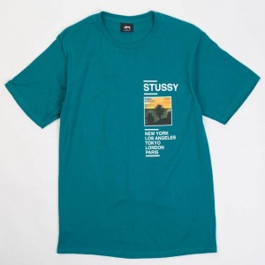 Stussy Men Gold Coast Tee (green / dark teal)