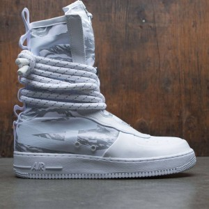 Nike Men Sf Air Force 1 Hi Premium Boot (white / white-white)