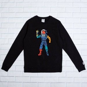 Billionaire Boys Club Men Astro Crew Sweater (black)