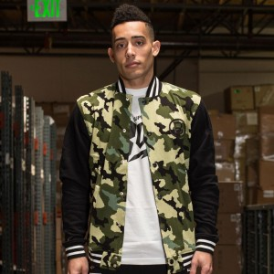 BAIT Basics Baseball Jacket (camo / black)
