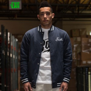 BAIT Basics Baseball Jacket (navy)