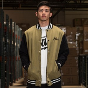 BAIT Basics Baseball Jacket (olive / black)