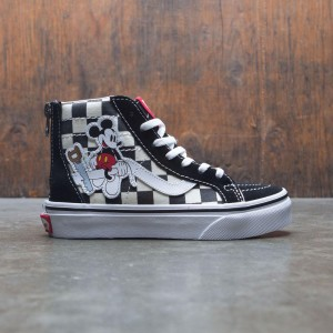 Vans x Disney Big Kids SK8-Hi Zip - Mickey (black / checkerboard)
