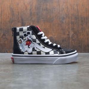 Vans x Disney Big Kids SK8-Hi Zip - Mickey (black / checkerboard)