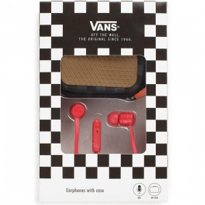 Vans Ear Phones With Case (red)