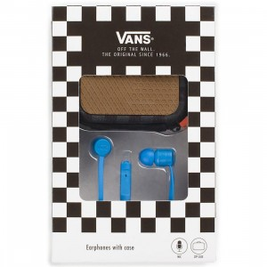Vans Ear Phones With Case (blue)
