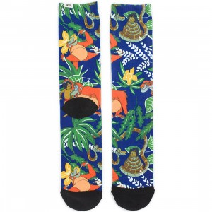 Vans x Disney Jungle Book Crew Socks (green / jungle)