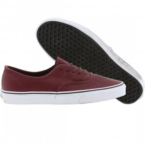 Vans Men Authentic Decon CA (distressed leather burgundy)