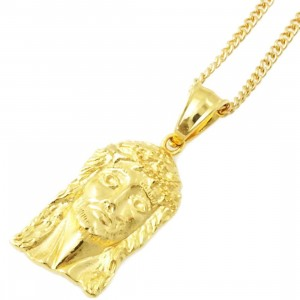 Veritas Aequitas Jesus Piece Necklace (gold)