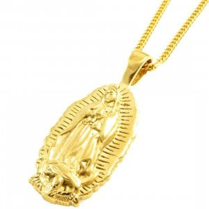 Veritas Aequitas Virgin Mary 2 Necklace (gold)