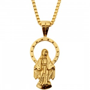 Veritas Aequitas Virgin Mary Necklace (gold)