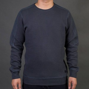 Adidas x Wings + Horns Men Cabin Fleece Crew Sweatshirt (gray / night grey)