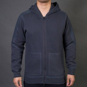 Adidas x Wings + Horns Men Cabin Fleece Hoodie (gray / night grey)