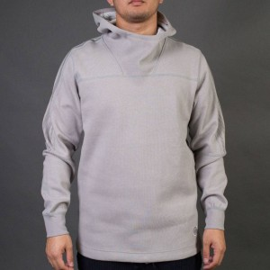 Adidas x Wings + Horns Men Bonded Linen Hoodie (gray / solid grey)