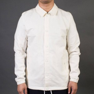 Adidas x Wings + Horns Men Linen Coach Jacket (white / off white)