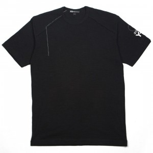 Adidas Y-3 Men Sashiko Short Sleeve Tee (black / champagne)